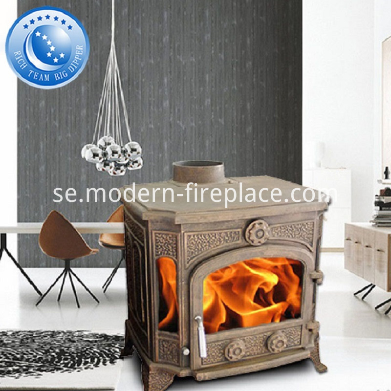 Wood Stove Fireplace Cast Iron Indoor