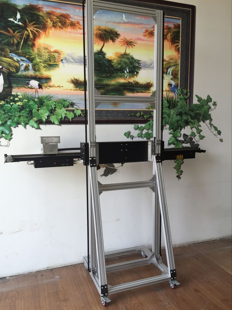 Horizontal wall printing machine