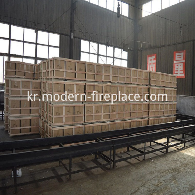 Cast Iron Indoor Wood Fireplace Packaging
