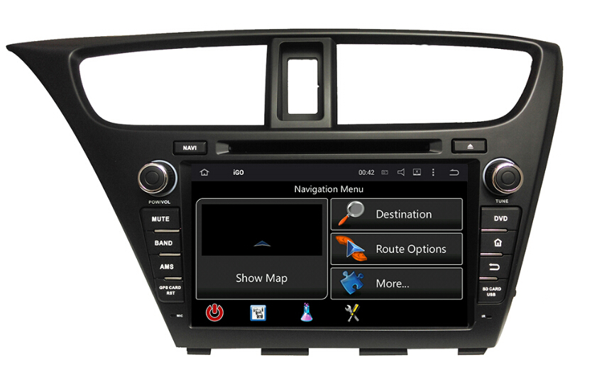 8 inch Civic Hatchback Touch Screen Car DVD