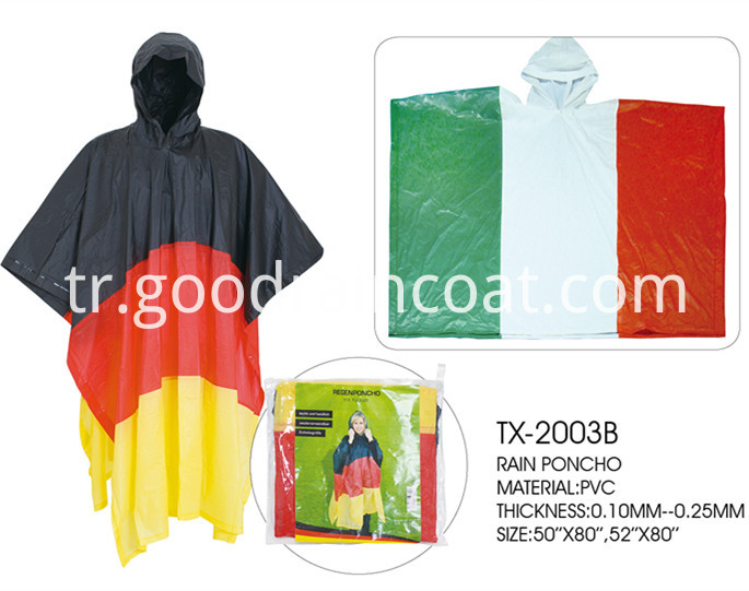 flag rain poncho
