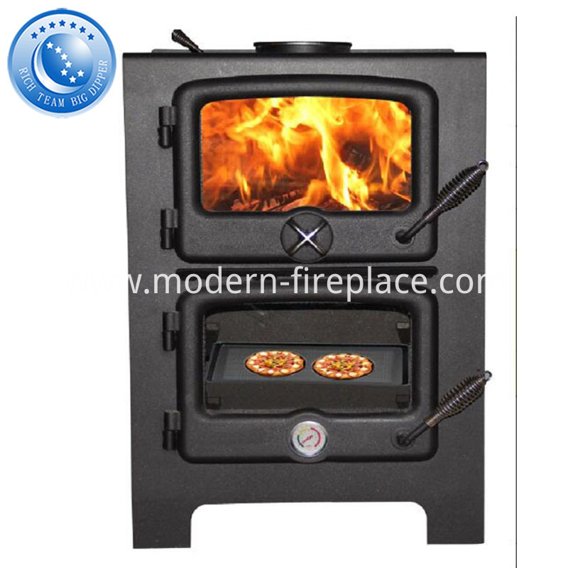 Free Standing Wood Burning Fireplace Grill With Wall Fires