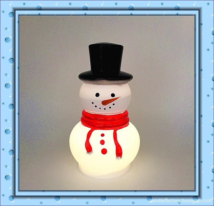 Snow man candle