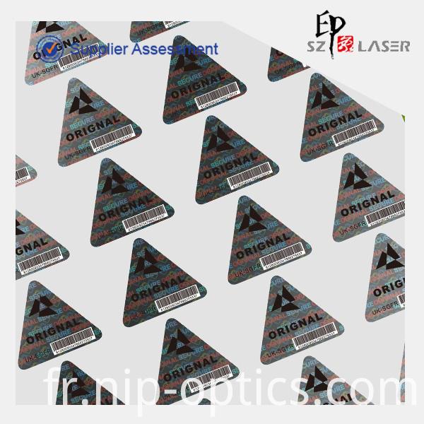 triangle holoogram sticker