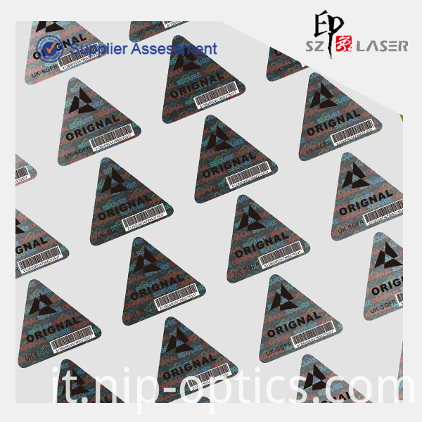 triangle holoogram sticker