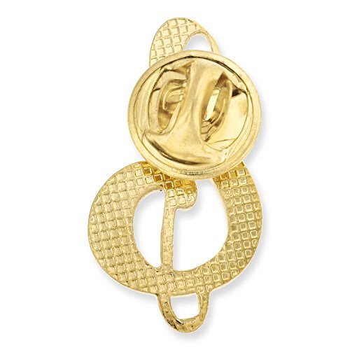 Gold Plated Clef Musical Note Lapel Pins