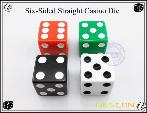 Six-Sided Straight Casino Die