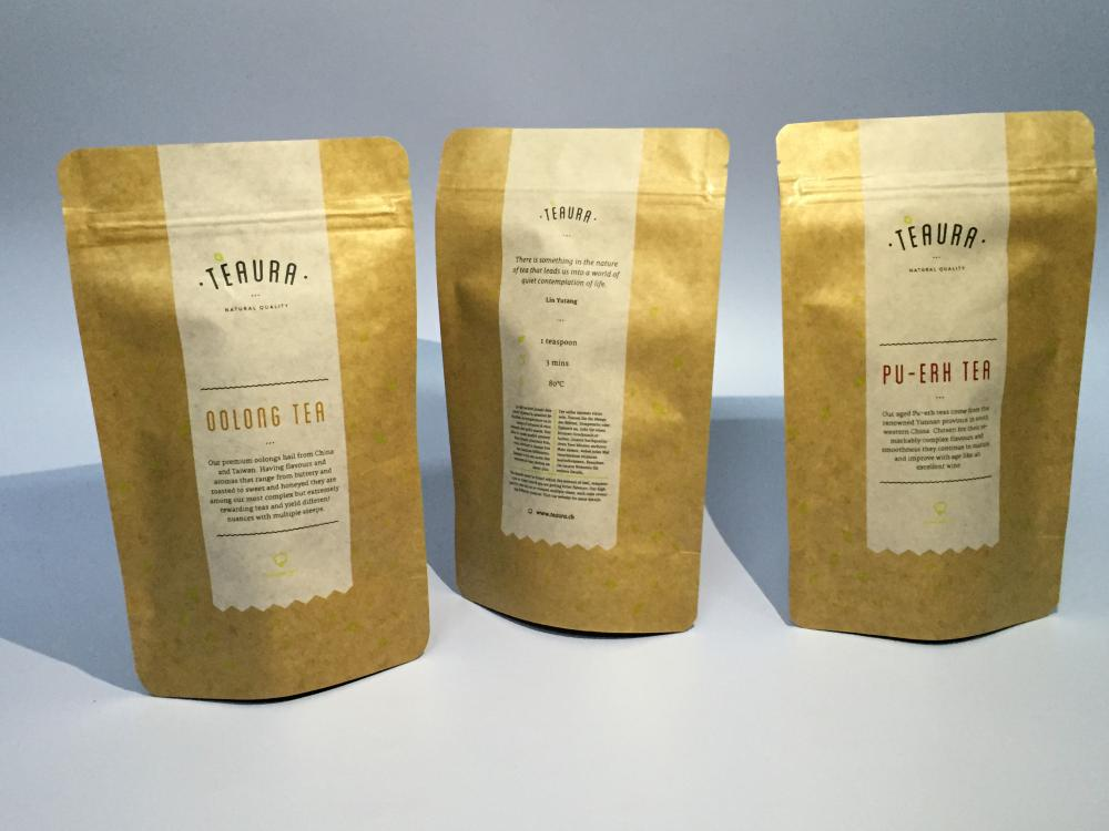 Kraft Paper Stand Up Pouch for Tea