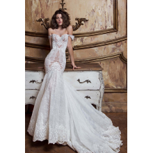 Trumpet/Mermaid Lace Sweep Train Wedding Dresses Design