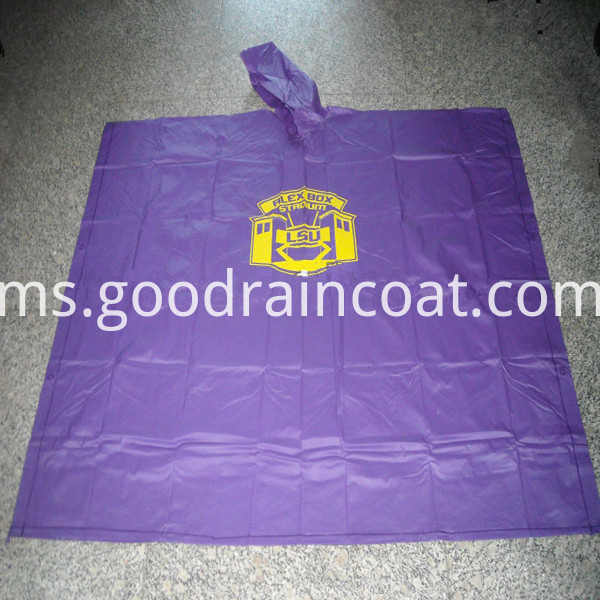 purple rain poncho