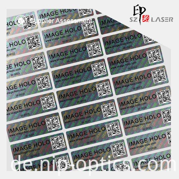 hologram labels sticker