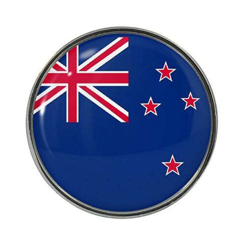 New Zealand Flag Design Pin Badge