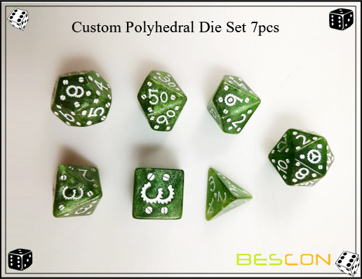 Custom Polyhedral Die Set 7pcs