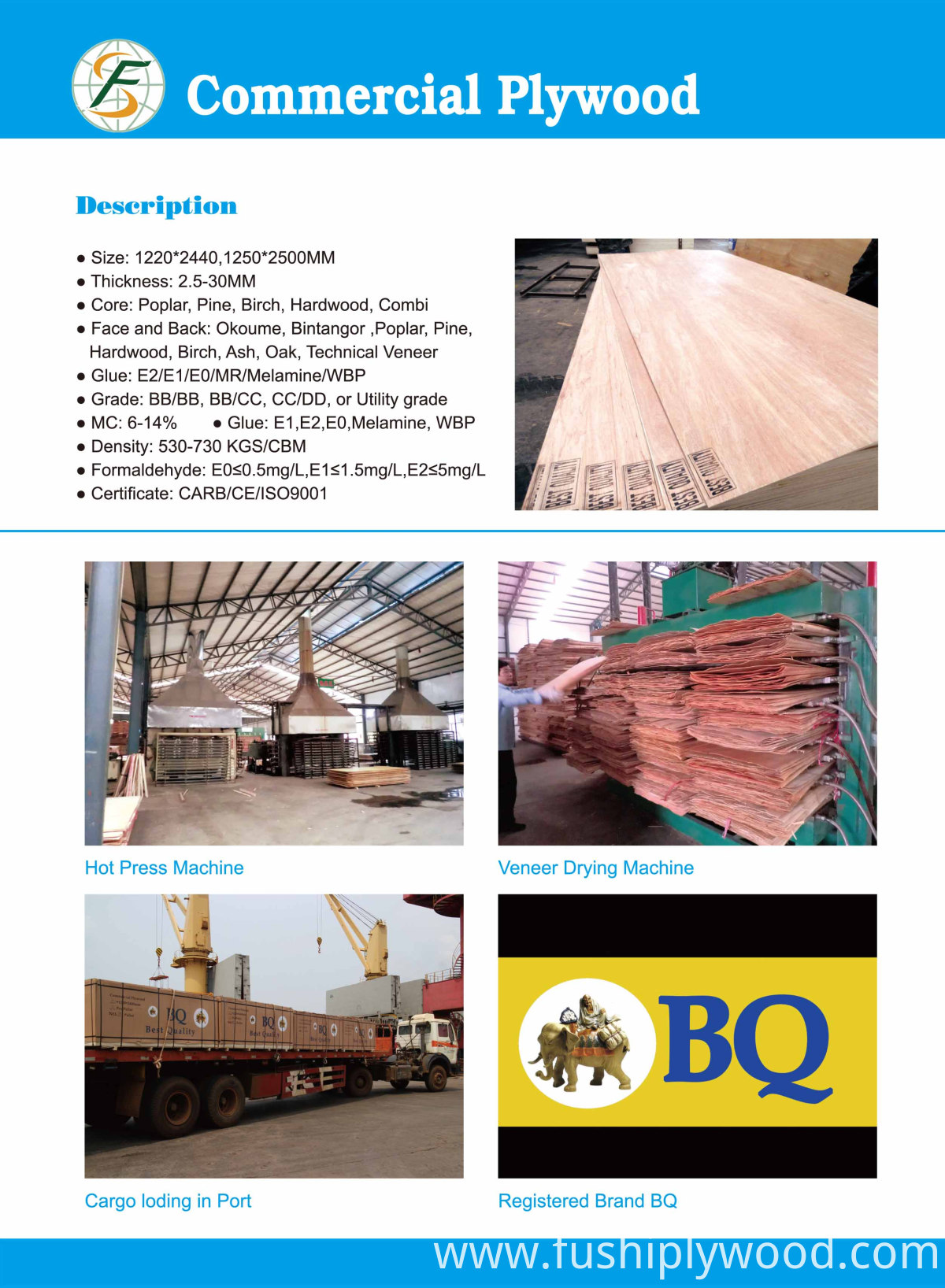 commercial plywood specifications