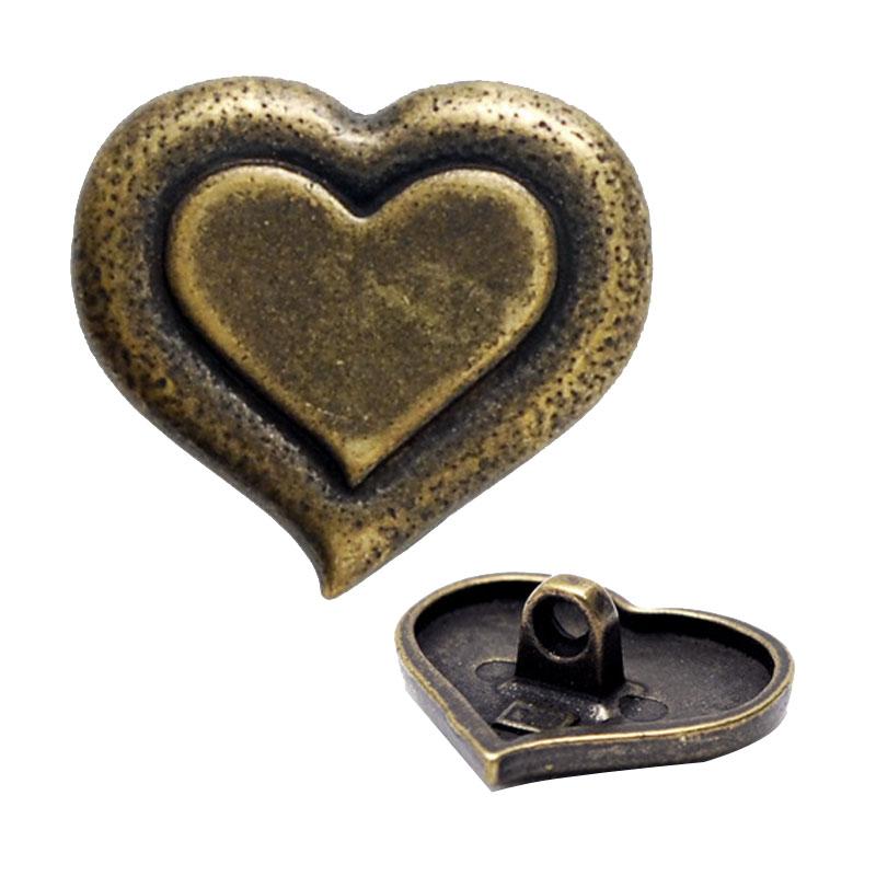 Gold Silver Metal Button