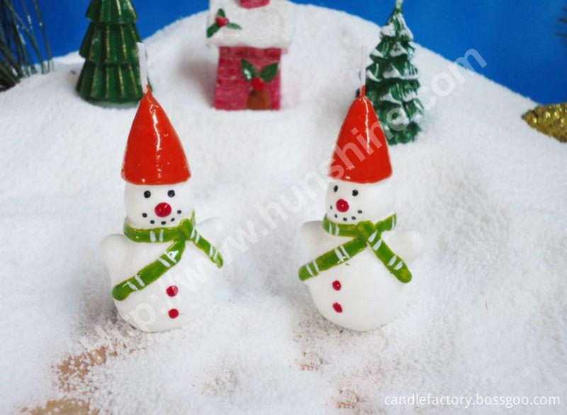 Snow man light candle