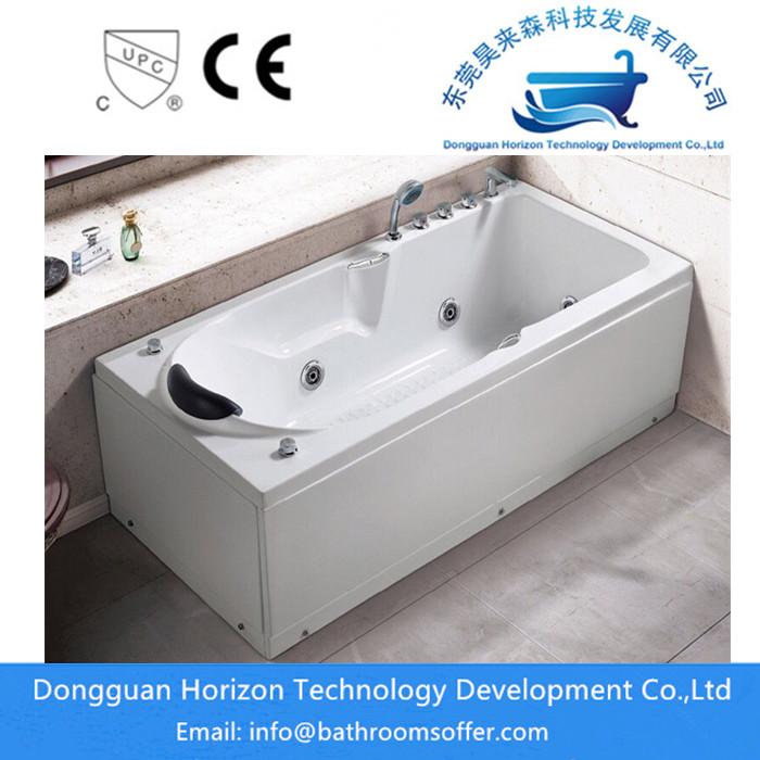 Acrylic Corner Massage Bathtub