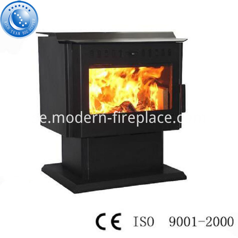 With Fan Wood Burning Fireplace