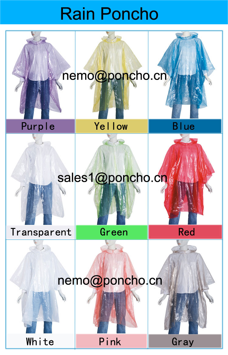 Promotional Plastic Poncho
