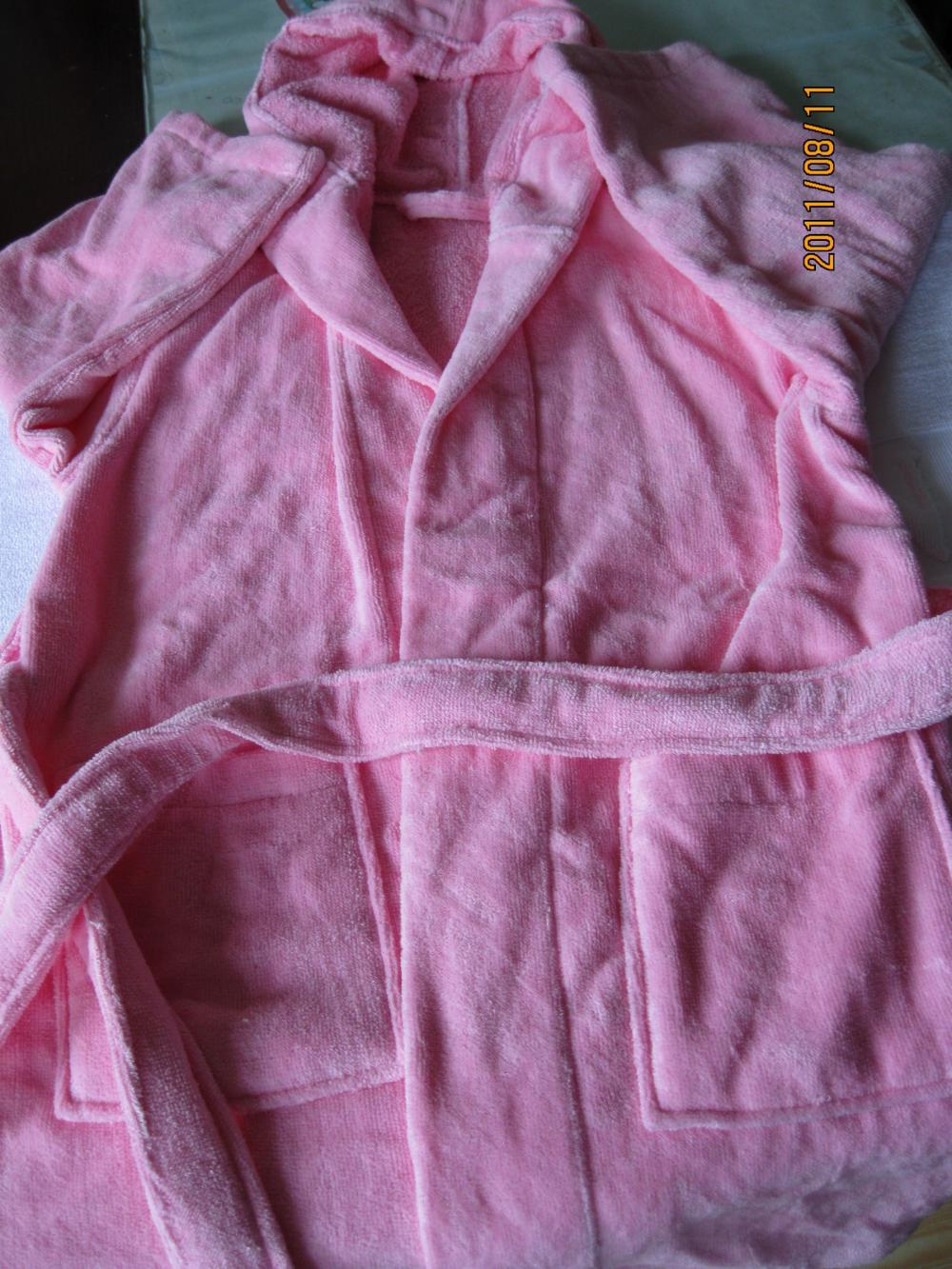 Pink Cotton Bathrobe