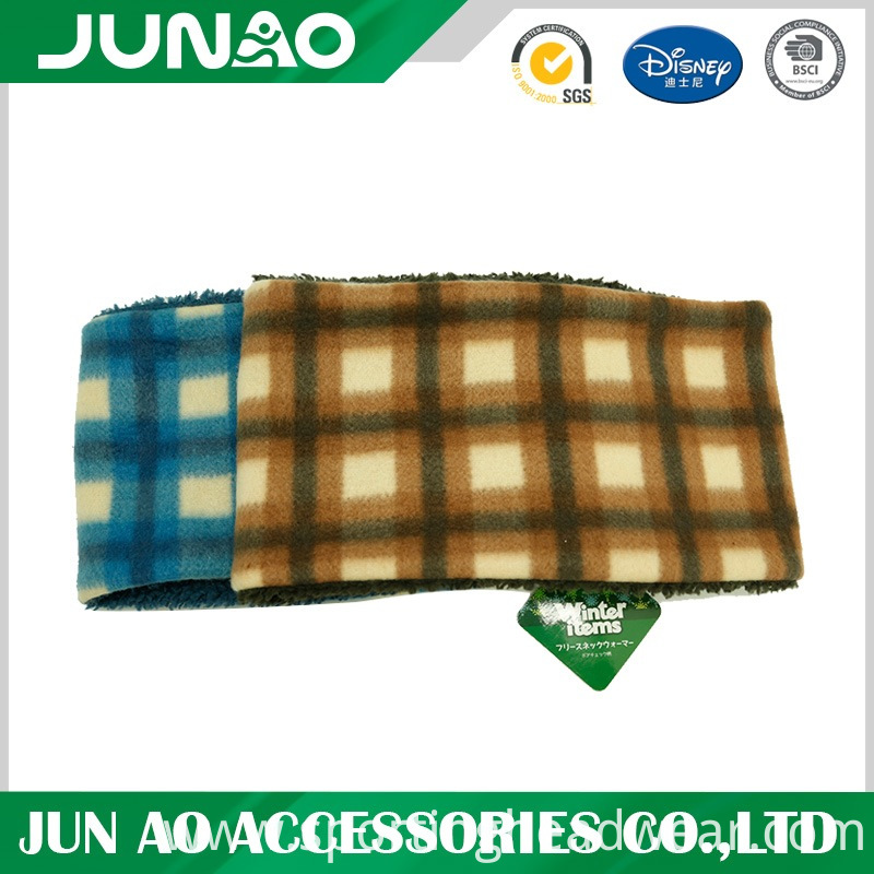 customized pattern neck warmer with sherpa lining