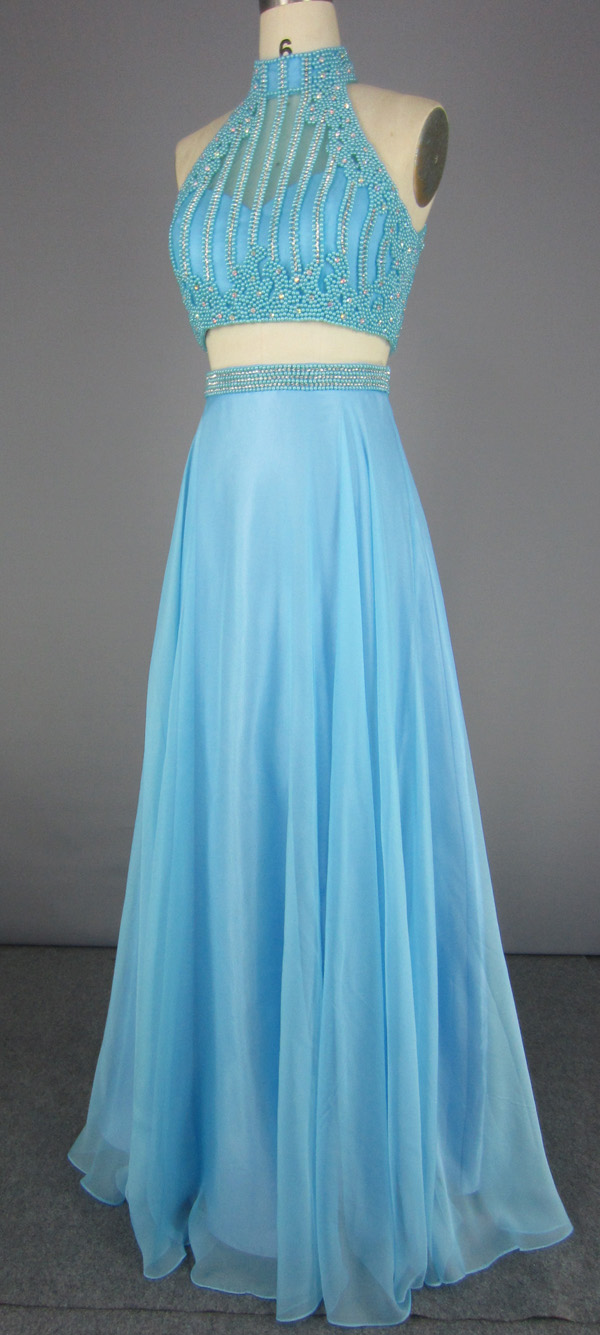 2 Piece Bridesmaid Dress