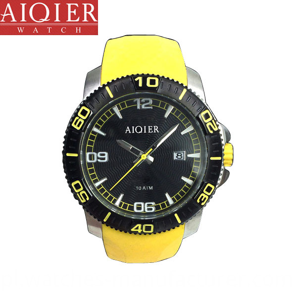 Stainless steel sports watch