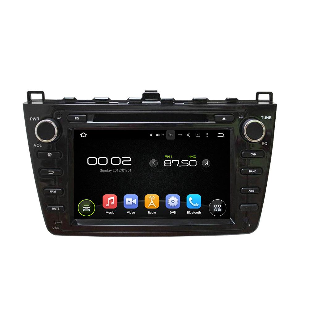 Black MAZDA 6 2008-2012 car DVD player