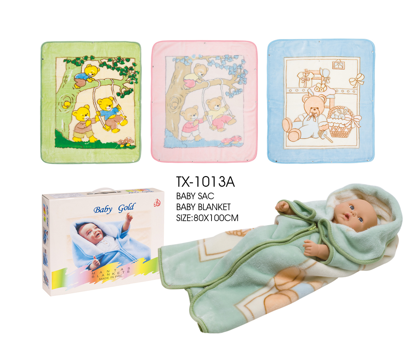 Box package baby blanket