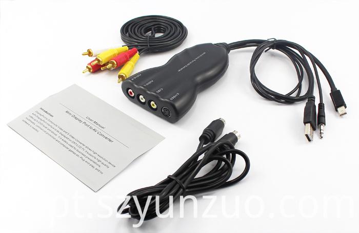 Mini DisplayPort to AV Converter