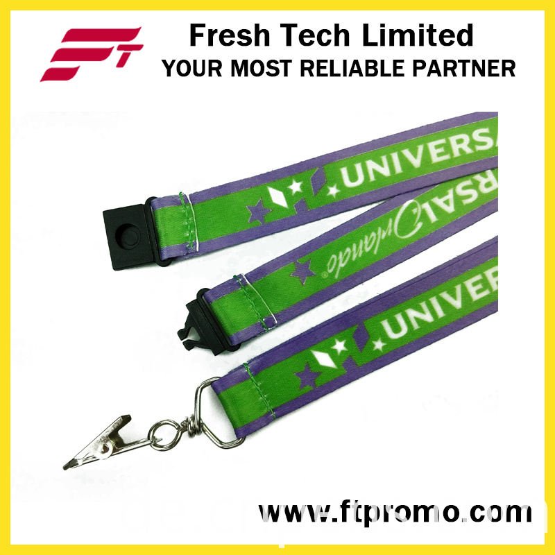 Advertised Polyester Card Lanyard with Heat Transfer Printing