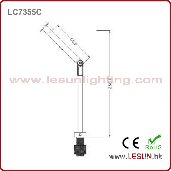 New Model! 3W LED Under Cabinet Light for Jewelry Display LC7355c