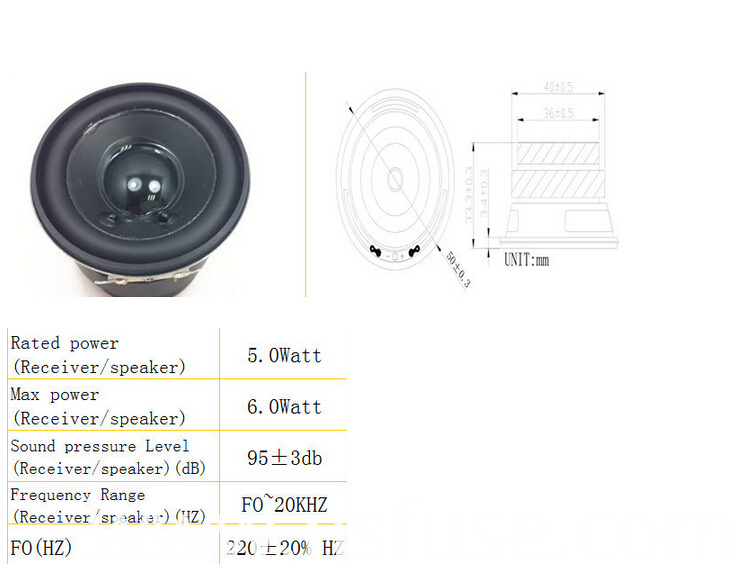 Fbmb5033 China Supplier Cheap 50mm 4ohm 5W Round Multimedia Speaker for Stage Home (Fbele)