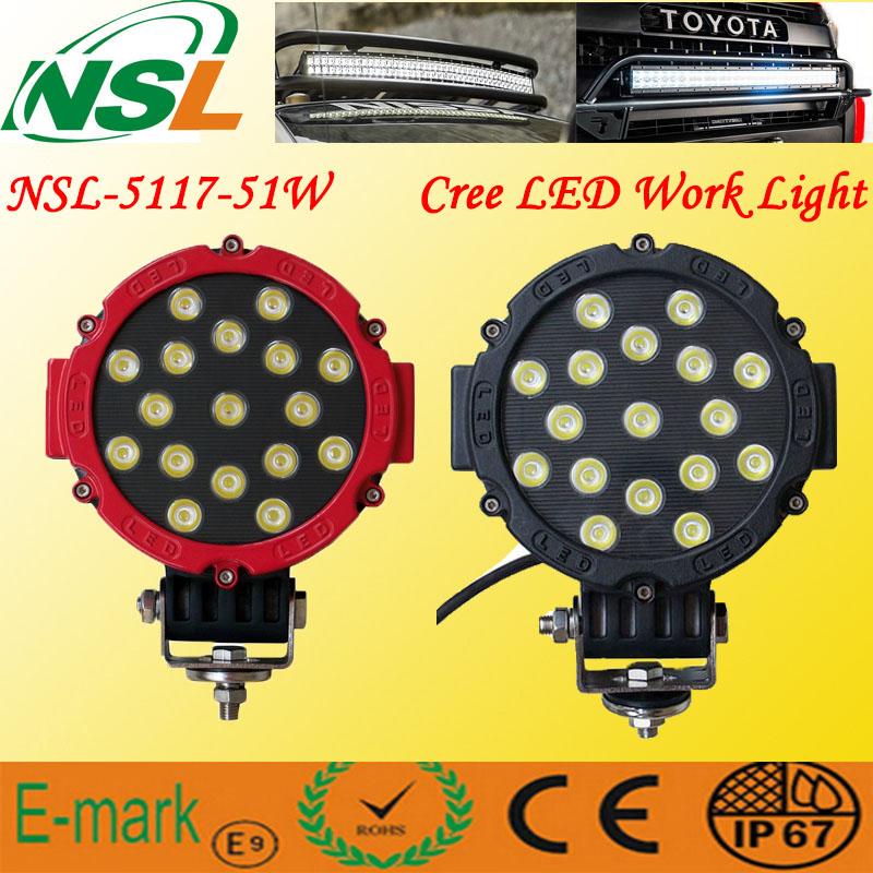 New Wide Voltage (9~32V) 43W LED Work Light/Car Fog Machine/Boat Lights/Lights for Fishing