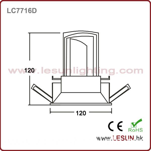 Recessed 12W LED COB Ceiling Downlight LC7716D