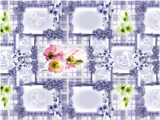 2016 Hot Sale high Quality PVC Printed Transparent Tablecloth