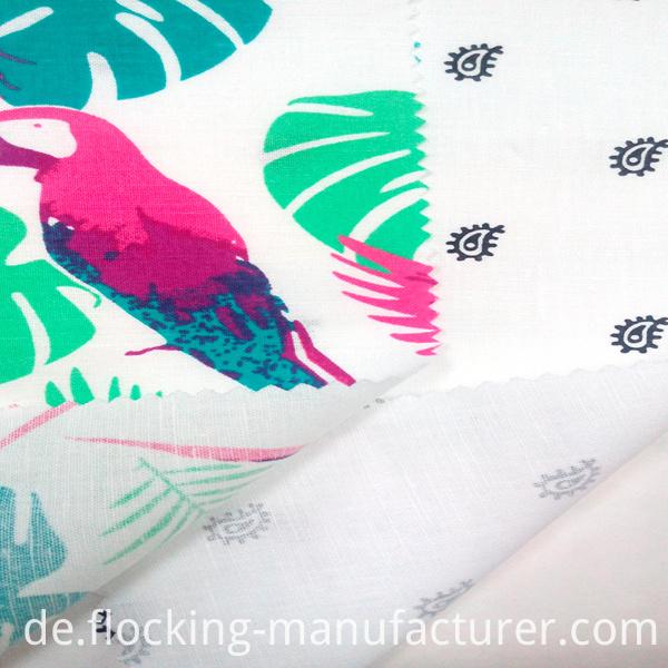 Linen Cotton Garment Hometextile Dress Printed Fabric