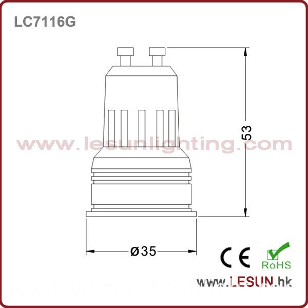 New Factory Price 1W GU10 LED Spotlight /Cabinet Light