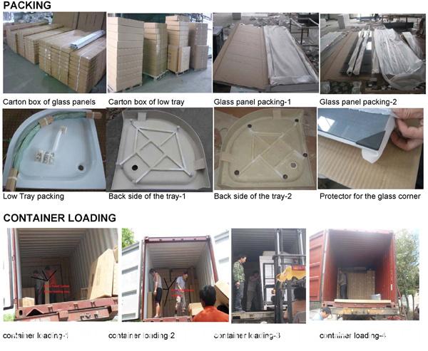 Shower Enclosure with Lines (E-01L)