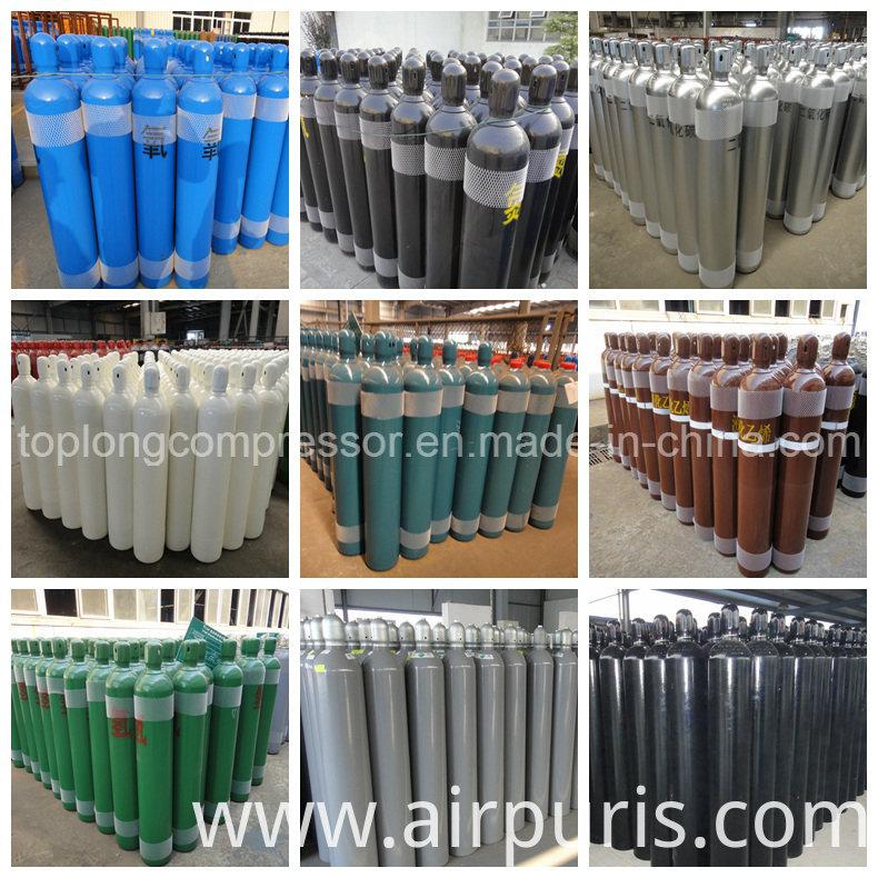 200bar Seamless Steel Oxygen Nitrogen Hydrogen Argon Helium CO2 Gas Cylinder CNG Cylinder