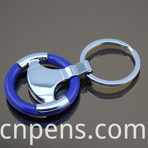 Promotional Gift Metal Tire Car Keychain with Engrave Logo (F1017)