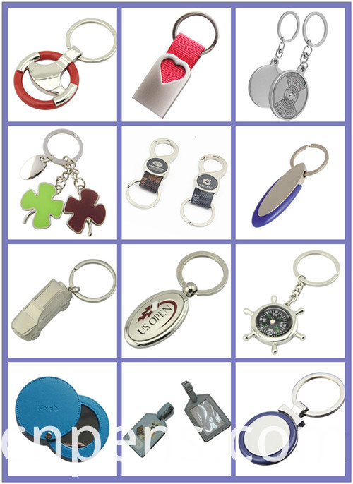 Cheap Promotional Custom Logo Ribbon House Metal Key Holder (F1067A)