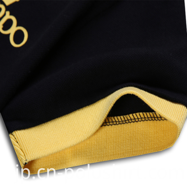 Men Polo Shirt with Contrast Collar and Cuffs