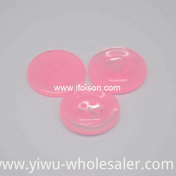 Polyester button with Candy color for Lady's shirt