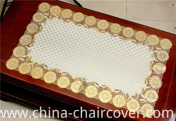 PVC Lace Table Mat/Placemat with Gold or Silver