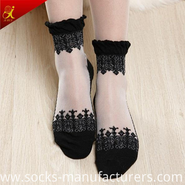 Women Summer Wear Transparent Lace Socks