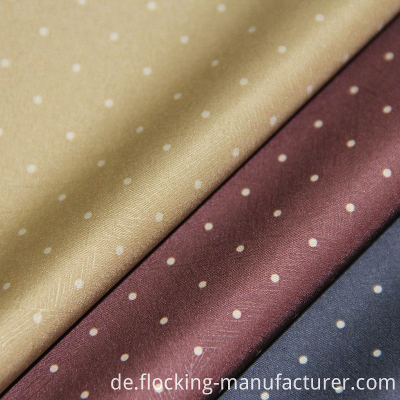 Polka DOT Printed Poly Fabric for Men's Jacket