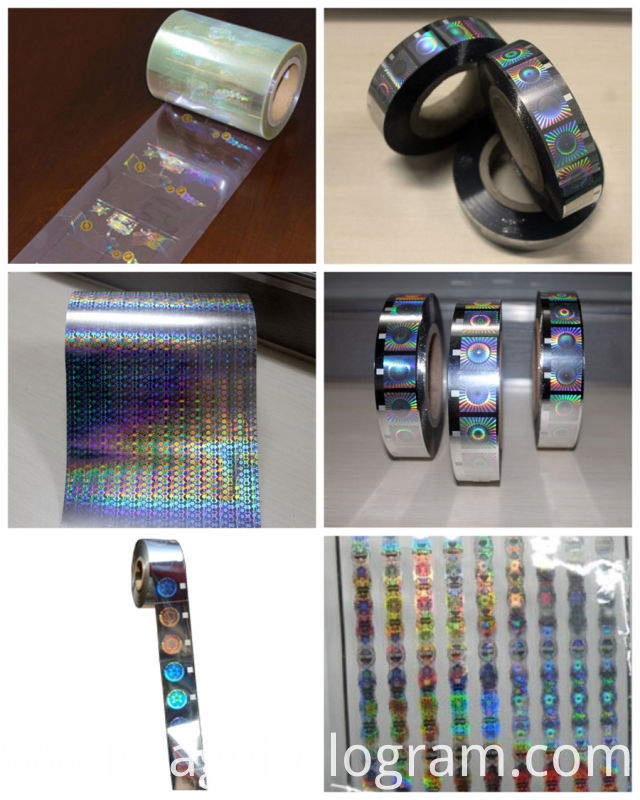 Anti-Counterfeiting Gold Security Hologram Hot Foil Stamping
