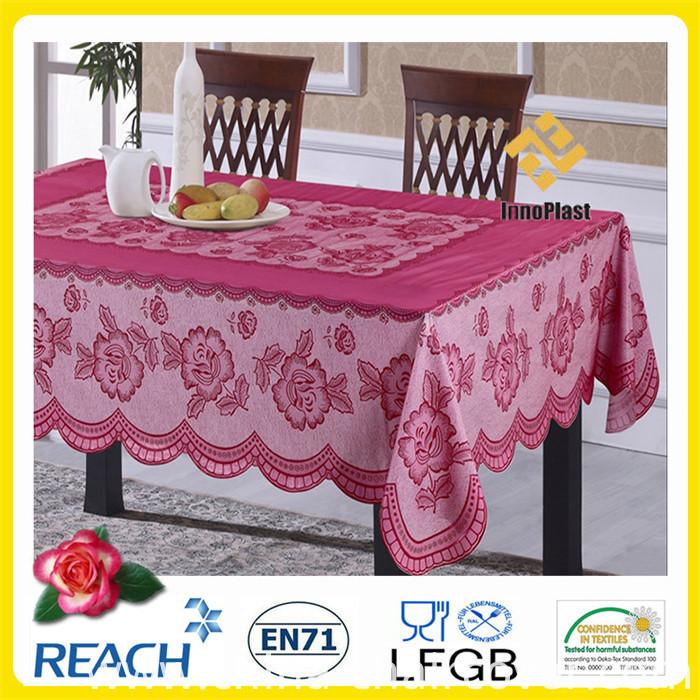 PVC Lace Color Table Cloth for Banquet/ Home