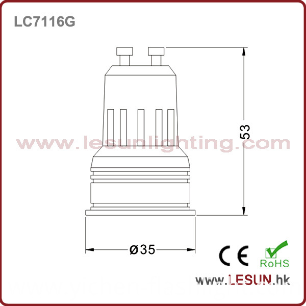 New Product Jewelry Spotlight GU10 1W Spot Bulb for LC7116g